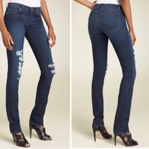 J Brand Low Rise Pencil Leg Torn DKV Jeans